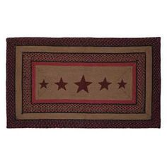 Bingham Jute Rectangle Rug Stencil Star 36 x 60 from VHC Brands (Victorian Heart). This rug measures 36 x 60 rectangle, braided jute. Star Stencil, Stencils, Kitchen Area Rugs, Swag Curtains, Braided Rugs, Red Barns, Jute Rug, Country Decor, All The Colors