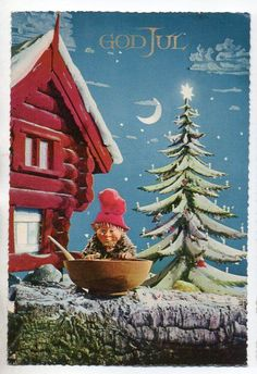 "Norway - elf with a bowl of food - used 1971 "" 29 September, Sale On, View Image, Norway, Elf, Auction, Christmas Ornaments, Holiday Decor, Painting"