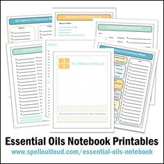 Printable essential oil notebook pages from @Maureen Spell #yleo #wellness #essentialoils