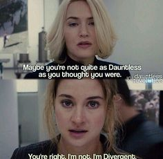 Yes!! This is was definitely one of my favorite parts in the movie, tris finally stands up to Jennene