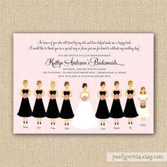 bridesmaid luncheon invitation. i love this idea!