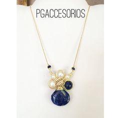 PG #pgaccesorios #chapadeoro #goldplated #cadenita #collar #necklace #chain #handmadejewerly #handmadenecklace #handmade #hechoamano #sinaloa #joyeria #joyas #lapislasuli #perlas