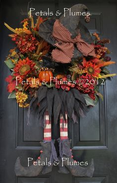 Fall Wreath-Autumn Wreath-Halloween Wreath