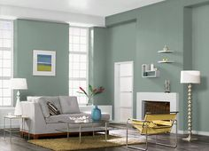 This is the project I created on Behr.com. I used these colors: UNDERGROUND GARDENS(N420-4),