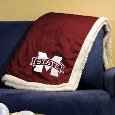 Mississippi State Bulldogs 50'' x 60'' Sherpa Throw Blanket - Maroon @Fanatics ® #FanaticsWishList