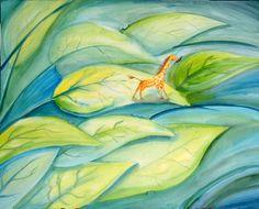 Catalina Noyola Lozano, Just A Little Giraffe, drawing, art, artwork, watercolor, painting