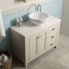 Laura Ashley Bathroom Collection Marlborough 1000mm Freestanding Unit Vessel Basin