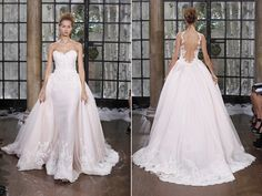 A Ines Di Santo dress, it has a petal pink under layer to give it a soft pink aura, with appliqué.