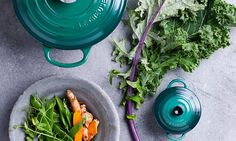 Introducing the Kale Collection, Le Creuset's rich new green hue that brings fresh colour to the kitchen. This sophisticated yet natural beauty is inspired by the foliage of kale, the leafy superfood that brims with nature's best.