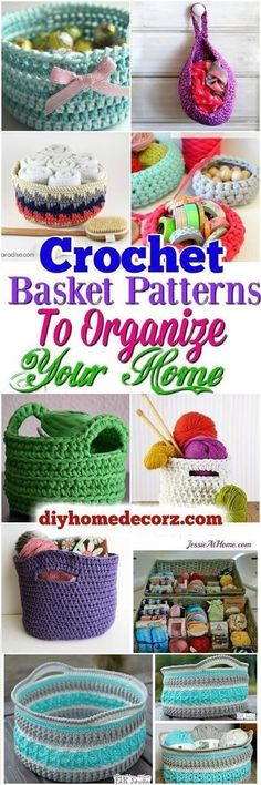 I am going to show you some #crochet #basket #patterns which will increase your home décor.