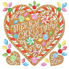 Helen Rowe  Christmas Gingerbread Heart