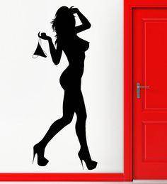 Wall Stickers Vinyl Decal Naked Girl van Wallstickers4you op Etsy
