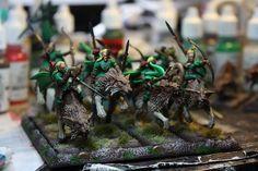 wood elves on wolfs
