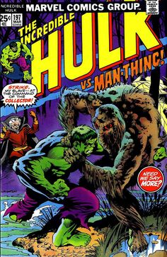 Man Thing Marvel | Giant-Size Marvel: Monster Mondays: The Hulk, Man-Thing, and Berni ...