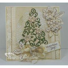 Gallery | Green and Gold Christmas Card - Heartfelt Creations