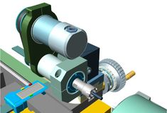 The lathe tool post machining/drilling system