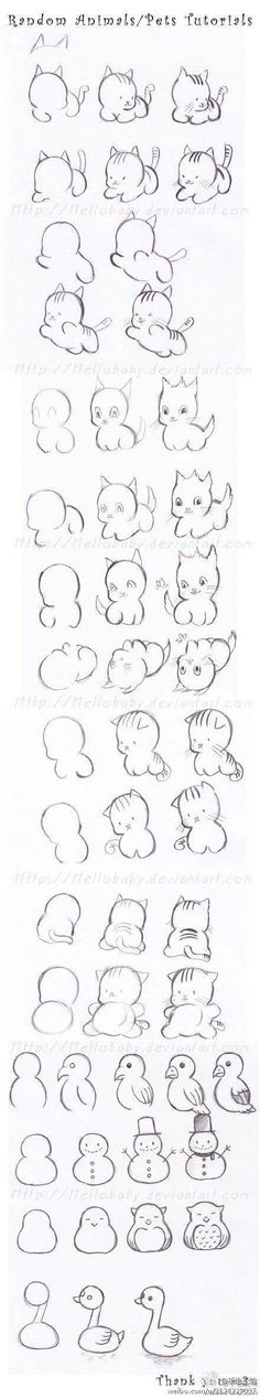 como dibujar animales tiernos