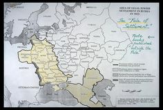 The area of legal Jewish Settlement that was allowed by the Tsars in the Russian Empire. The Jews were forbidden to settle and live elsewhere, and needed official permission to move. The large influx of Jewish immigrants to America in the late 1800's and early 1900's - prior to WWI - was a result of this restrictive policy,  also to evade service in the Tsar's army, escape from the prejudice that existed, and the brutality of the random pogroms that resulted in destruction and horrid…