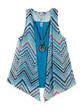 Beautees 3-pc. Peace Striped Top – Girls 7-16