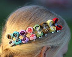 kanzashi hair clips set of 2