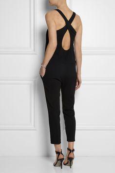 Crossover-back crepe jumpsuit|NET-A-PORTER.COM