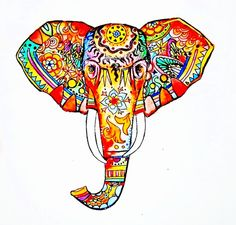 Kinda digging this beautiful elephant for a tattoo...surprising because I'm usually not into color