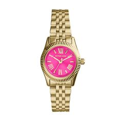 With a bold mix of pink and gold, this accent piece is a perfect add on to your attire this summer.