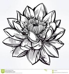 lace lotus tattoo black and white - ค้นหาด้วย Google