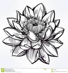 lace lotus tattoo black and white - ค้นหาด้วย Google