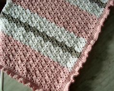 Ruffles and Pink are for Girls Crochet baby blanket pattern