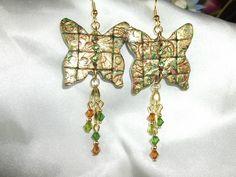 Jeweled mosaic butterflies by Lori Von der Puetten