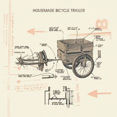 Homemade Bicycle Trailer: