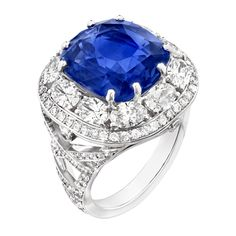 Fabergé Devotion Blue Sapphire 10.33ct Ring #Fabergé #sapphire #ring