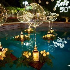 Reusable LED Balloons - Makes A Perfect Gift – Hourly Holiday Deals Pool Party Decorations, Christmas Decorations, Mascarade Party Decorations, Floating Pool Decorations, Swimming Pool Decorations, Floating Pool Lights, Led Balloons, Light Up Balloons, Balloon Lights