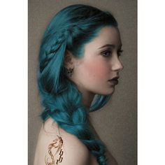 mermaid hair! ❤ liked on Polyvore featuring beauty products, haircare, hair styling tools, hair, hairstyles and people