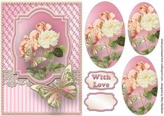 Roses, Lace and Butterflies - Pink