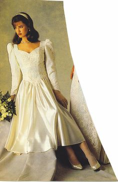 Bride In A 90 S Vintage Wedding Gown From A Magazine