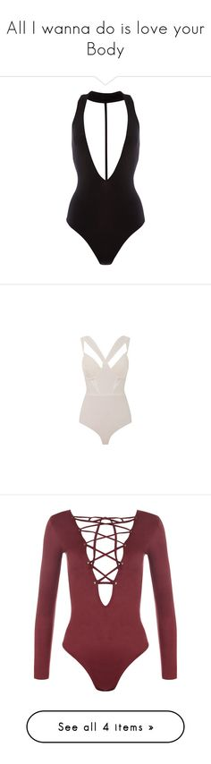 """""""All I wanna do is love your Body"""" by lv-a ❤ liked on Polyvore featuring intimates, shapewear, bodysuits, tops, one piece, bodies, swimsuits, bodysuit, shirts and wine"""