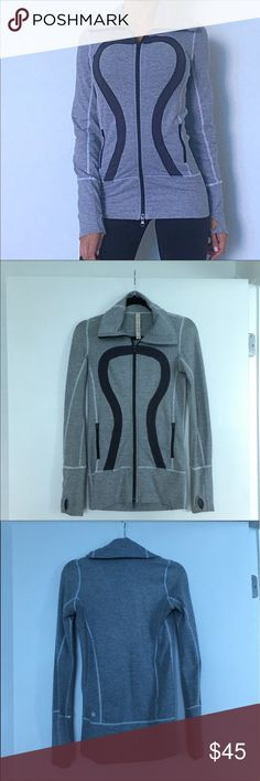 Lululemon athletic jacket Lightweight jacket perfect for throwing on before a workout or lounging around in. Body: 66% nylon, 21% polyester and 13% lycra. Lining: 82% nylon and and 18% Lycra. lululemon athletica Jackets & Coats