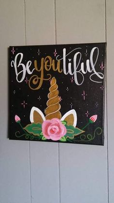 Be You tiful Unicorn Canvas Painting | Beautiful Cases For Girls