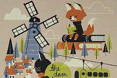 The Town Print by Chris Sasaki - The Dam Keeper