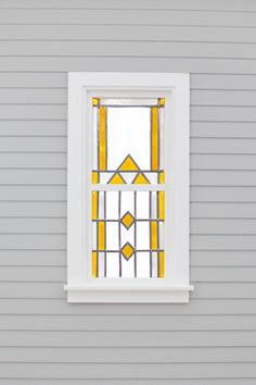 Dollhouse Stained Glass Window