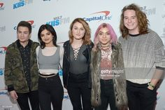 Recording artists Iain Shipp, Nia Lovelis, Miranda Miller, Rena Lovelis, and Casey Moreta of Hey Violet attend 102.7 KIIS FM's Jingle Ball 2016 at Staples Center on December 2, 2016 in Los Angeles, California.