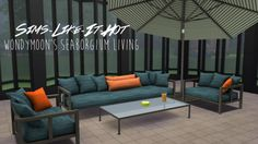 Wondymoon's Seaborgium Garden Living converted for The Sims 4 // Download