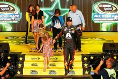 Jeff Gordon with his family at All star introductions 2015