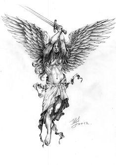 Spectacular Warrior Angel Gabriel Tattoo Angel Gabriel Tattoo - Spectacular Warrior Angel Gabriel Tattoo Angel Gabriel Tattoo You are in the right place about tatto - Kunst Tattoos, Bild Tattoos, Body Art Tattoos, Cool Tattoos, Tatoo Designs, Tattoo Sleeve Designs, Sleeve Tattoos, Angel Warrior Tattoo, Warrior Tattoos