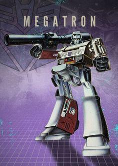 ": Visit Artist Store Description: Transformers Decepticons Megatron artwork by artist ""Rykker Part of a se Gi Joe, Thundercats, Transformers Decepticons, Transformers Collection, Nostalgia, Super Robot, Old Cartoons, Cartoon Pics, War Machine"