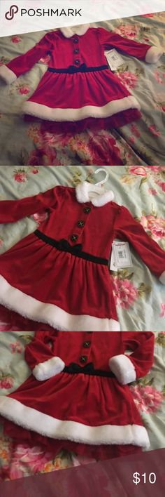 Christmas is coming! Christmas is coming! Faux-Fur Holiday Outfit. New with tags; never warn! Koala Kids Dresses