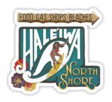 North Shore Traffic Sign WOMAN Sticker