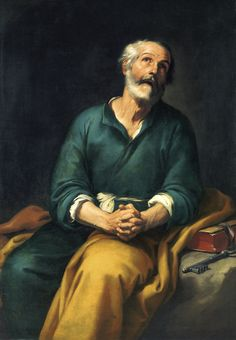 B. E. Murillo. San Pedro en lágrimas, c. 1650-1655 | Museo de Bellas Artes de Bilbao